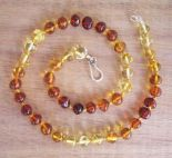 Parent and Child Amber Necklace set - Light Rainbow