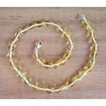 Champagne Amber Teething Necklace