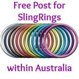 DIY Aluminium Sling Rings - Large (pair)